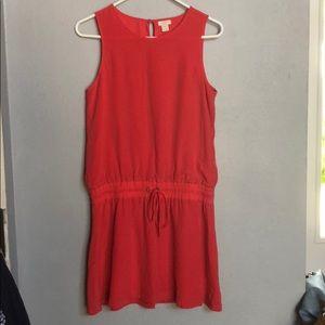 J. Crew Coral Silk Dress
